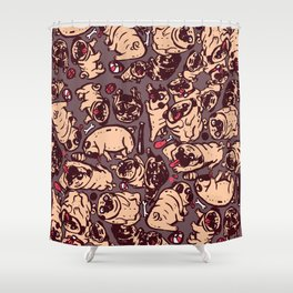 Pugs meeting Shower Curtain