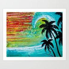 Blue Wave Art Print