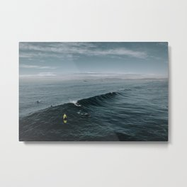 Summer Surf Session Metal Print