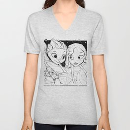 Mune and Glim (Mune: Guardian of the Moon) Unisex V-Neck
