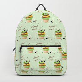 cupcake with black currant and mint Backpack