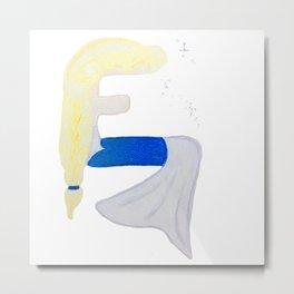E is for Elsa Metal Print