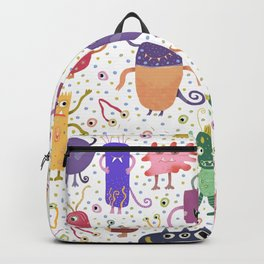 Colorful Friendly Monsters Backpack