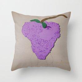 Killer Grapes  Throw Pillow