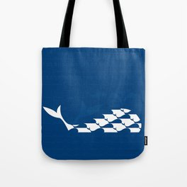 Whale in Blue Ocean with a Love Heart Tote Bag
