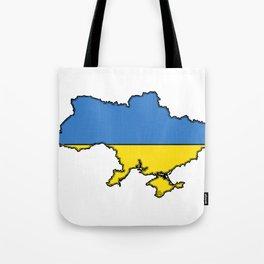 Ukraine Map with Ukrainian Flag Tote Bag