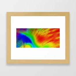 Heat Map Framed Art Print