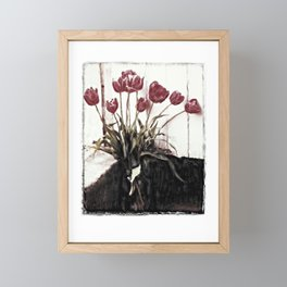 tulips della finestra - floral still life Framed Mini Art Print