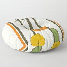 Mid-Century Modern Art Musical Strings Floor Pillow