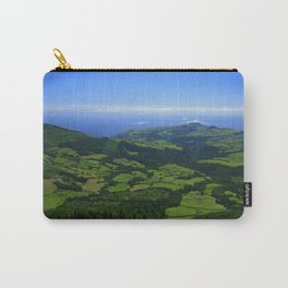 Green coastal landscape Carry-All Pouch