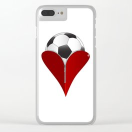 Love Soccer Clear iPhone Case