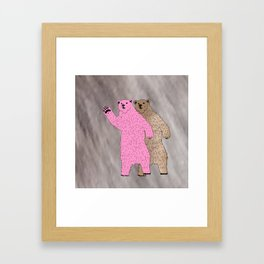 Build A Bigger Bear, Catch a Load of Salmon Framed Art Print