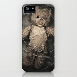 trapped teddy bear iPhone Case
