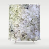 hydrangea Shower Curtains featuring Hydrangea by Awesome Palette