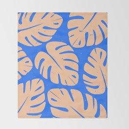 Monstera Leaf Print 5 Throw Blanket