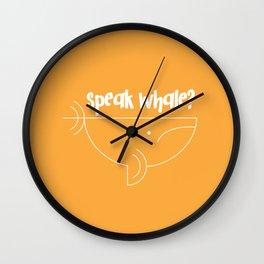 Speak Whale? Wall Clock