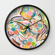 Blossom Colorful Wall Clock