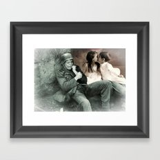 Weighted thoughts Framed Art Print