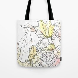 Autumn Leaves Watercolor Tote Bag