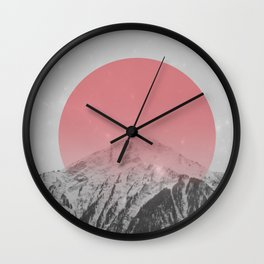 Dreaming of Pink Mountains Wall Clock