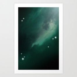 Green Galaxy Art Print