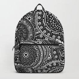 Dot Art Circles Grayscale Backpack