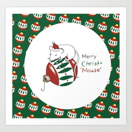 Merry Christmas Mouse Art Print