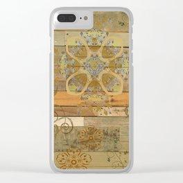 Paisley Wood Mandala Boho Greens Bohemian Clear iPhone Case