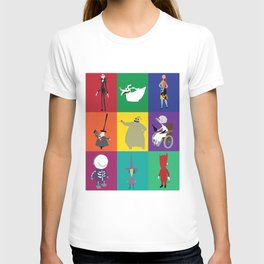 nightmare before christmas characters T-shirt