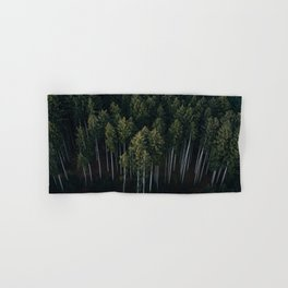 Aerial Photograph of a pine forest in Germany - Landscape Photography Hand & Bath Towel