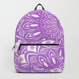 Beautiful Purple Violet Mandala Design Pattern Minimal Minimalistic Backpack