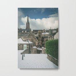 Old Town Snow Metal Print