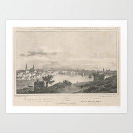 Vintage Illustration of Providence RI (1890) Art Print