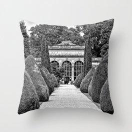 Path to the Orangery Throw Pillow