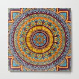 Hippie mandala 90 Metal Print