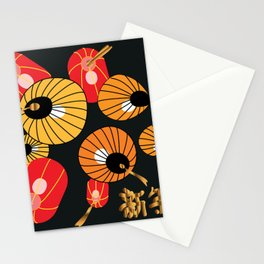 Chinese Lanterns Stationery Cards