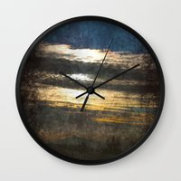 all seeing eye Wall Clocks featuring All-Seeing Eye by GLR67