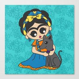 Little Dog Friend Canvas Print