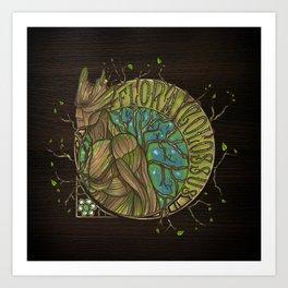 Flora Colossus Art Print