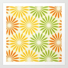 Zesty Burst Art Print