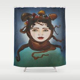 MUSHROOM GIRL Shower Curtain