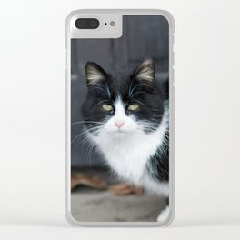 Black and white cheating Clear iPhone Case