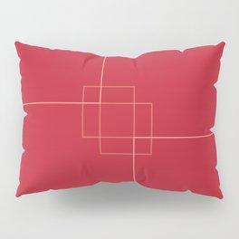 Red Clock Design Pillow Sham