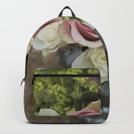Rose Bouquet in a Vase Backpack
