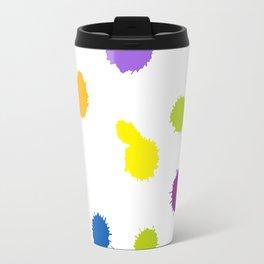 Seamless pattern background with rainbow blots Travel Mug