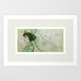 Green Vale Veil Art Print