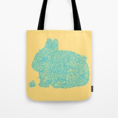 Flowers for my bunny Tote Bag