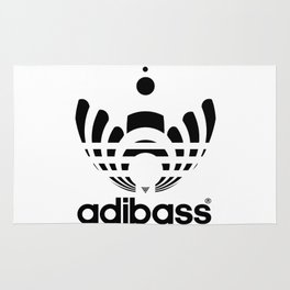 Adibass logo Rug
