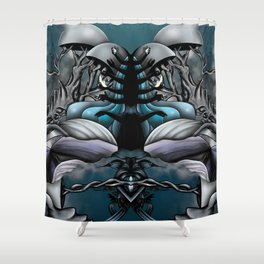 More Fame than the Sun and Moon Shower Curtain