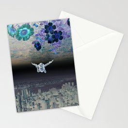 A Skydiver Between Two Parallel Universes Stationery Cards